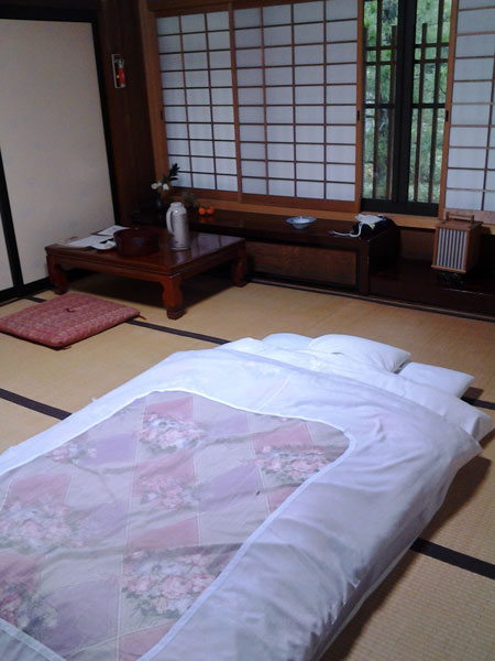 "My ""shukubo"" room at Mount Koya"