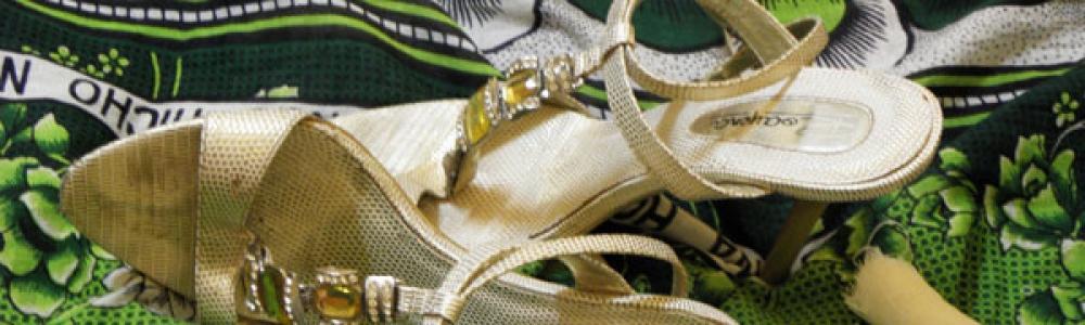 My golden stilettos.