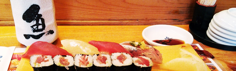 Sushi for breakfast in Tsukiji (Tokyo)
