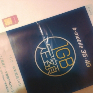 The b-Mobile data sim card by DoCoMo.