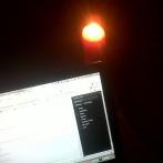 Working in the dark.