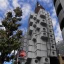 The Nakagin Capsule Tower in Shinbashi's Shiodome, Tokyo