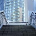Elevated corridors in Shinbashi's Shiodome, Tokyo